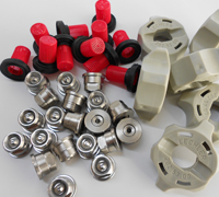 Spray nozzles, fittings and filters